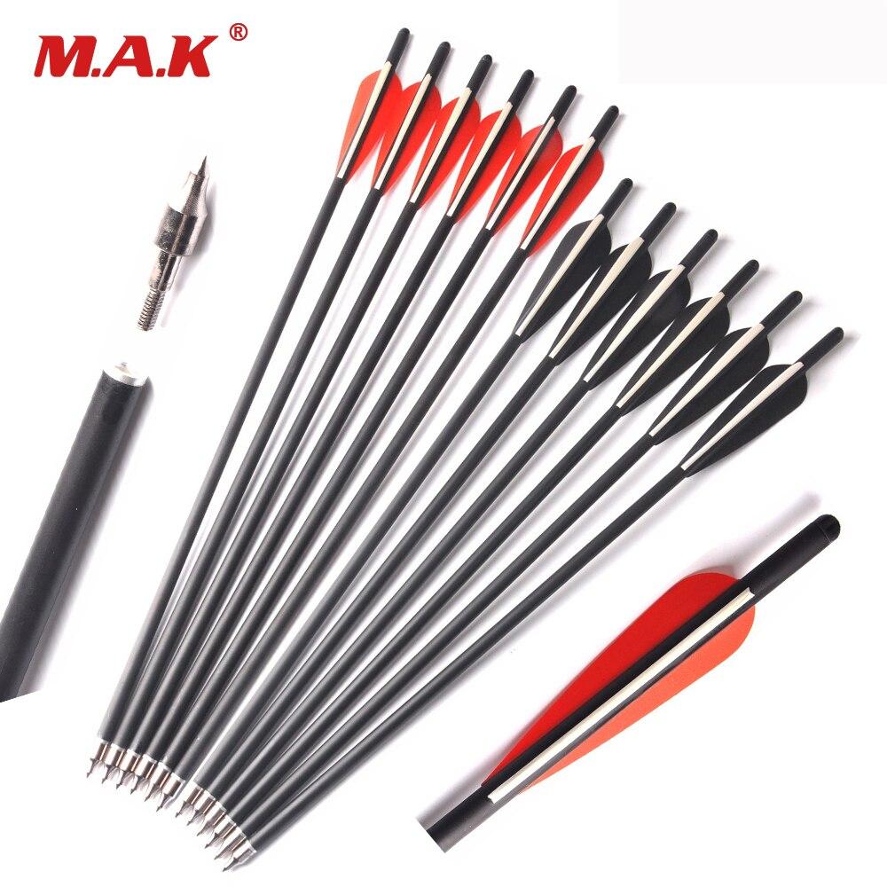 17/'/'//20/'/' Archery Arrow OD 8mm Hunting Arrow Arrow with Removable Arrowhead