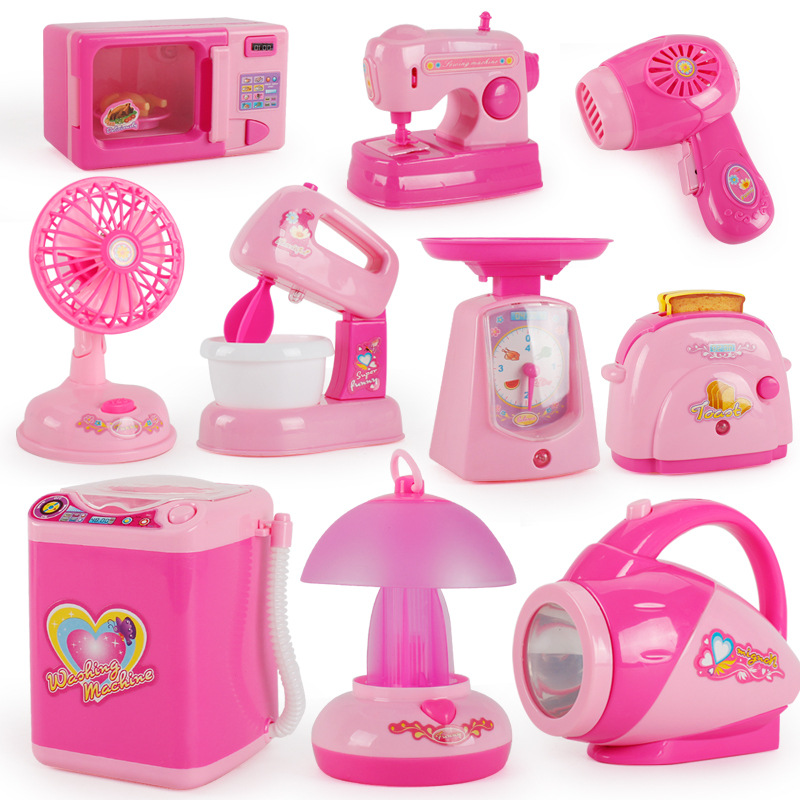Children Model Mini Small Appliances Toy Set Multi-functional Electric Play House Kitchen 12 Pieces Hot Selling