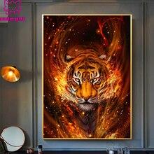 Набор для алмазной вышивки «пламя и Тигр»