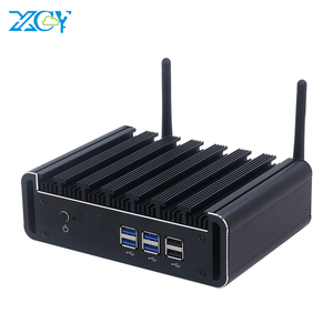 XCY Fanless Mini PC Intel Core i7 4500U i5 4200U i3 4010U HDMI VGA 6xUSB Gigabit Ethernet 2.4/5.0G WiFi Bluetooth 4.0 Windows 10