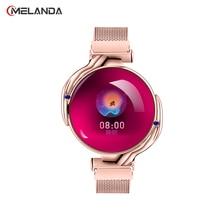 แฟชั่นผู้หญิงสมาร์ทนาฬิกานาฬิกากันน้ำความดันโลหิตMonitor Smartwatch Giftสำหรับสุภาพสตรีนาฬิกา