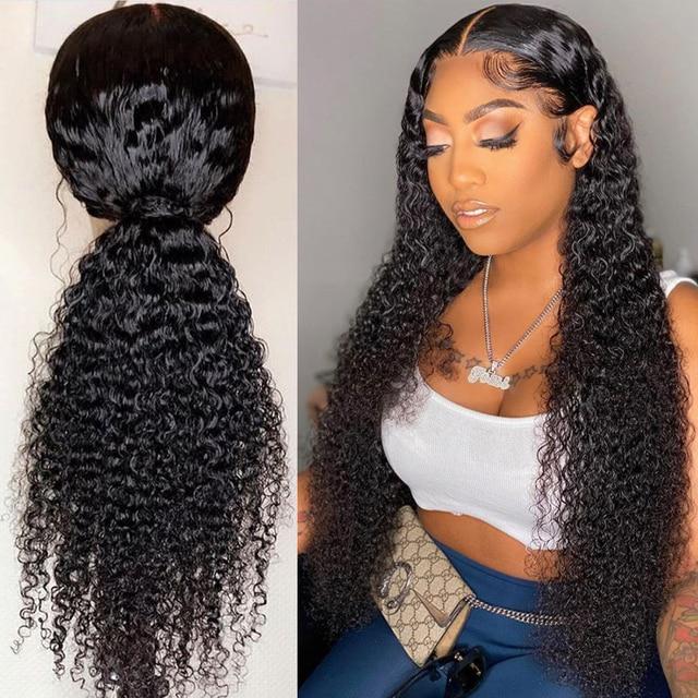 Parrucche di capelli umani ricci Nodi naturali decolorati Parrucche brasiliane Remy 13x6 in pizzo con parrucche pre pizzicate