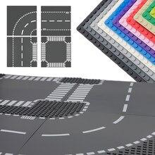 Tijolos clássicos placas de base 32x32 pontos blocos de construção cidade rua estrada rodapés dimensões criador moc construção brinquedos peças