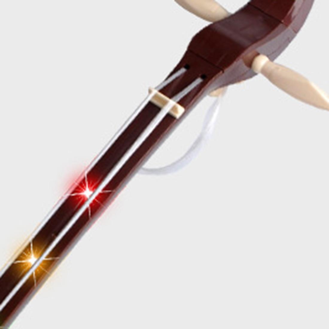 Morin Khuur jouets musicaux chinois Instrument National pour enfants musique de développement début jouets éducatifs cadeau-brun/rouge vif - 4