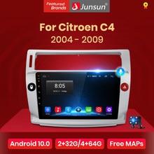Junsun V1 pro 2G + 128G Android 10 para Citroen C4 C-triunfo C-Quatre 2004 - 2009 auto Radio Multimedia reproductor de Video GPS 2 din dvd
