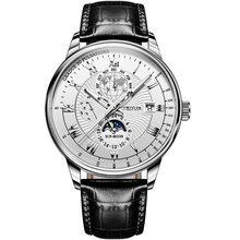 JSDUN Top Brand Men's Mechanical Watch Business Men's Waterproof Sapphire mirror, Imported Movement