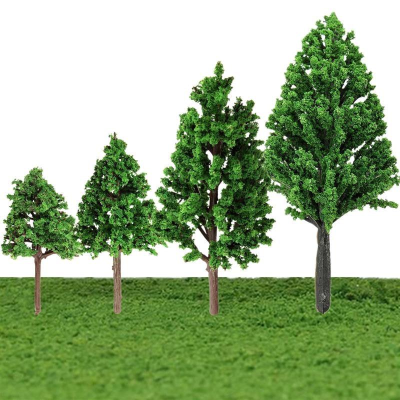 5PCS/Set Train Layout Model Trees Scale Garden Scenery Railroad Landscape 4Sizes Mini Model Trees Toys Assortment Kit