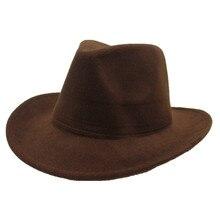 Модная Мужская и Женская ковбойская шляпа в стиле ретро, свернутая шляпа, широкая шляпа, зимняя Выходная шляпа, размер 56-58 см