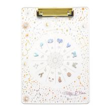 Creative Starry Sky A4 Clipboard Acrylic File Folder Writing Pad Document Holder School Office Supplies Stationery cute a4 bear cactus owl clipboard stationery store clip paper folder board desk file drawing writing pad school office accessory