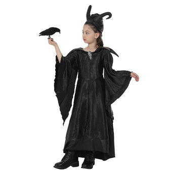 Dark Witch Queen malefica Costume Cosplay per bambini ragazze Halloween Fantasia Party Fancy Dress outfit 1