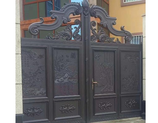 Luxury Design Of Automatic Security Driveway Swing  Main Gate For Villas Cast Iron Pipe House Entrance Design Gate Models India