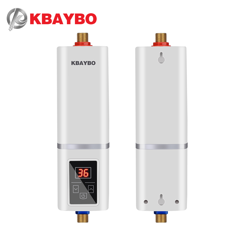 KBAYBO 5500W Electric Water Heater Instantaneous Water Heater Tap Instant Shower Thermostat Heating Maximum 55 Degrees Celsius