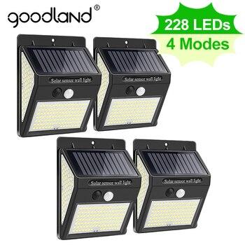 Goodland 228 144 LED Solar Light Outdoor Solar Lamp with Motion Sensor Solar Powered Sunlight Spotlights for Garden Decoration 1
