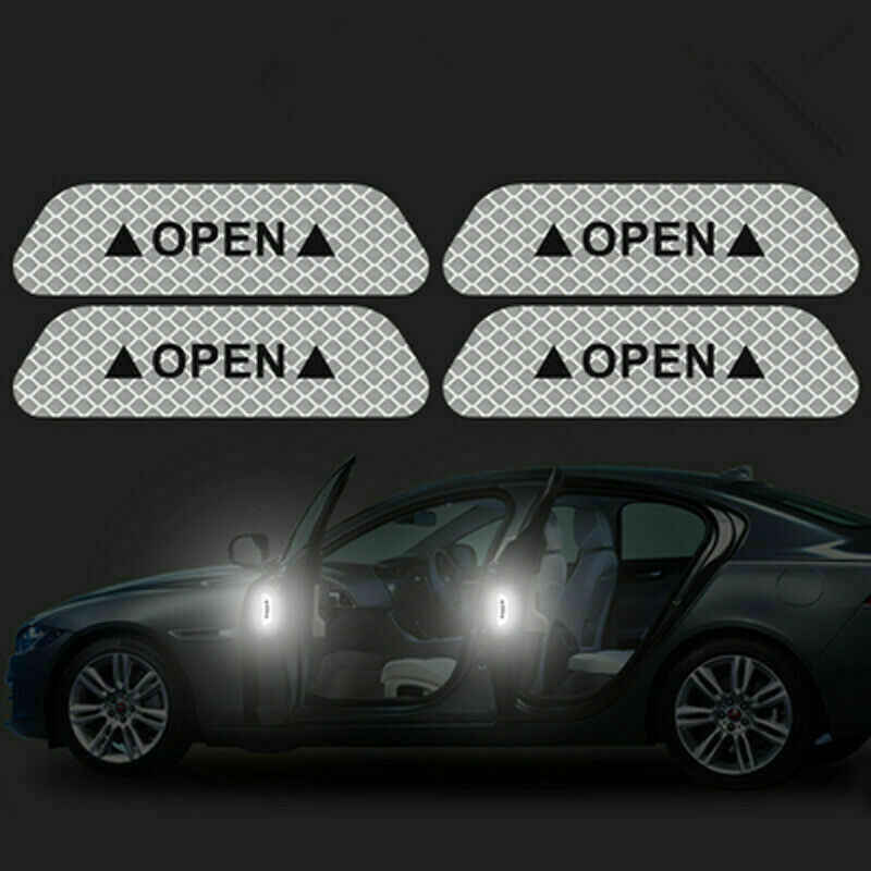 4 Universal Auto Car Porta Aberta Adesivo Fita Reflexiva Segurança Aviso Decalque