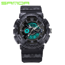 SANDA Digital Watches Men's Watch Sports Watches Outdoor Shock Smart Wrist Watch Water Resistant Male Electronic LED Watch Men