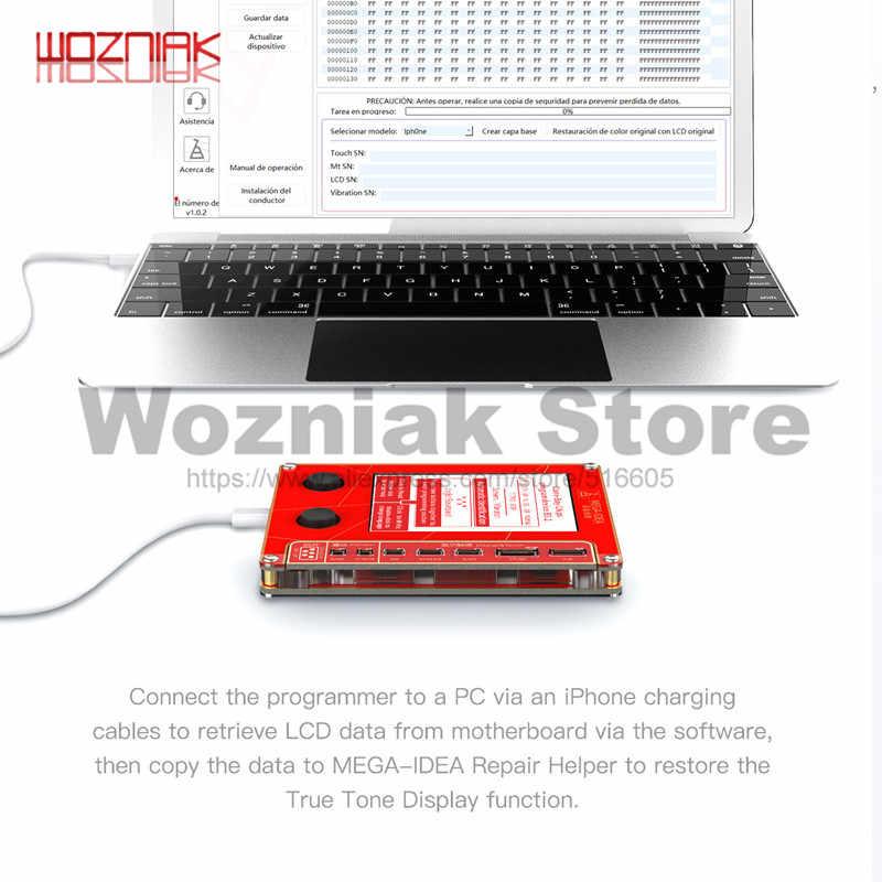 Qianli Mega-Ý Tưởng Màn Hình LCD True Tone Sửa Chữa Lập Trình Viên Rung/Cảm Quang Cho iPhone 7 8 XR XS Max tốt Như Qianli Icopy