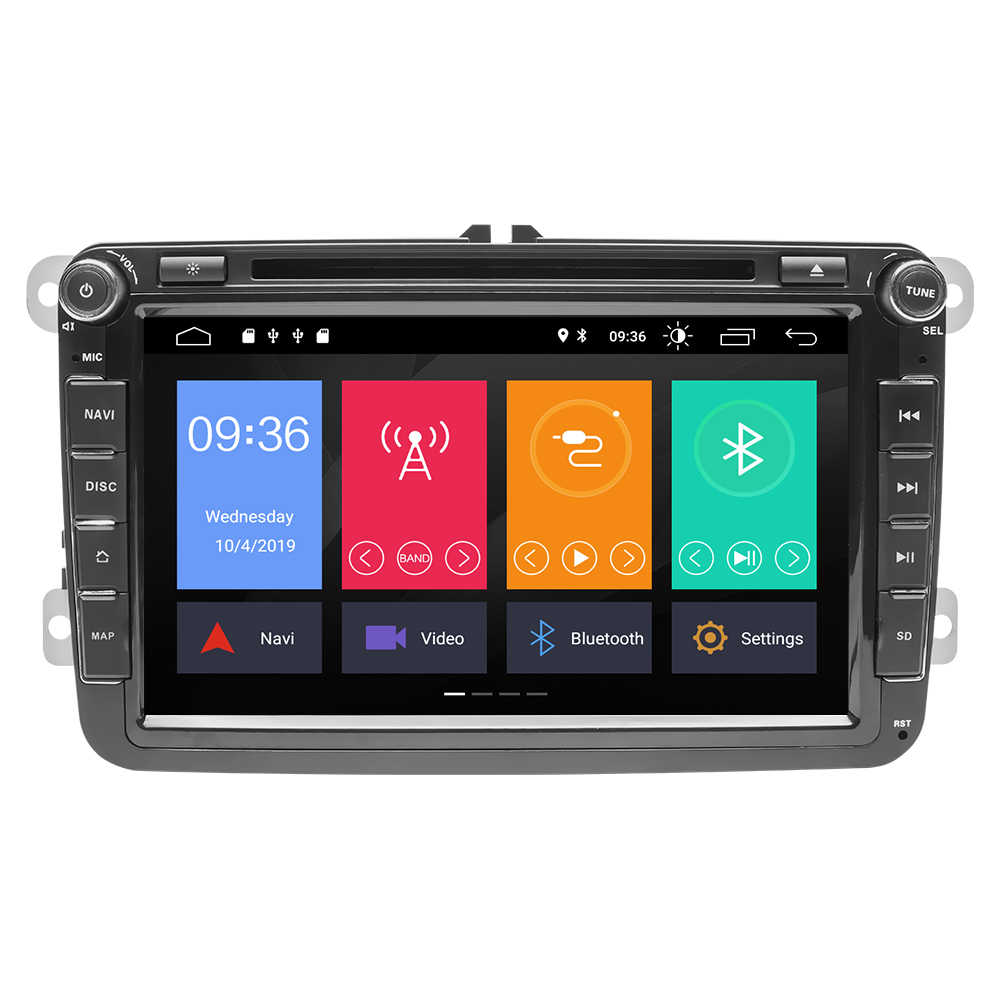 IPS DSP 64GB 2 דין אנדרואיד 10 מולטימדיה לרכב עבור ראפיד Yeti פולקסווגן פאסאט b6 גולף 4 5 6 פולו tiguan סיאט אלטאה Amarok טולדו רדיו