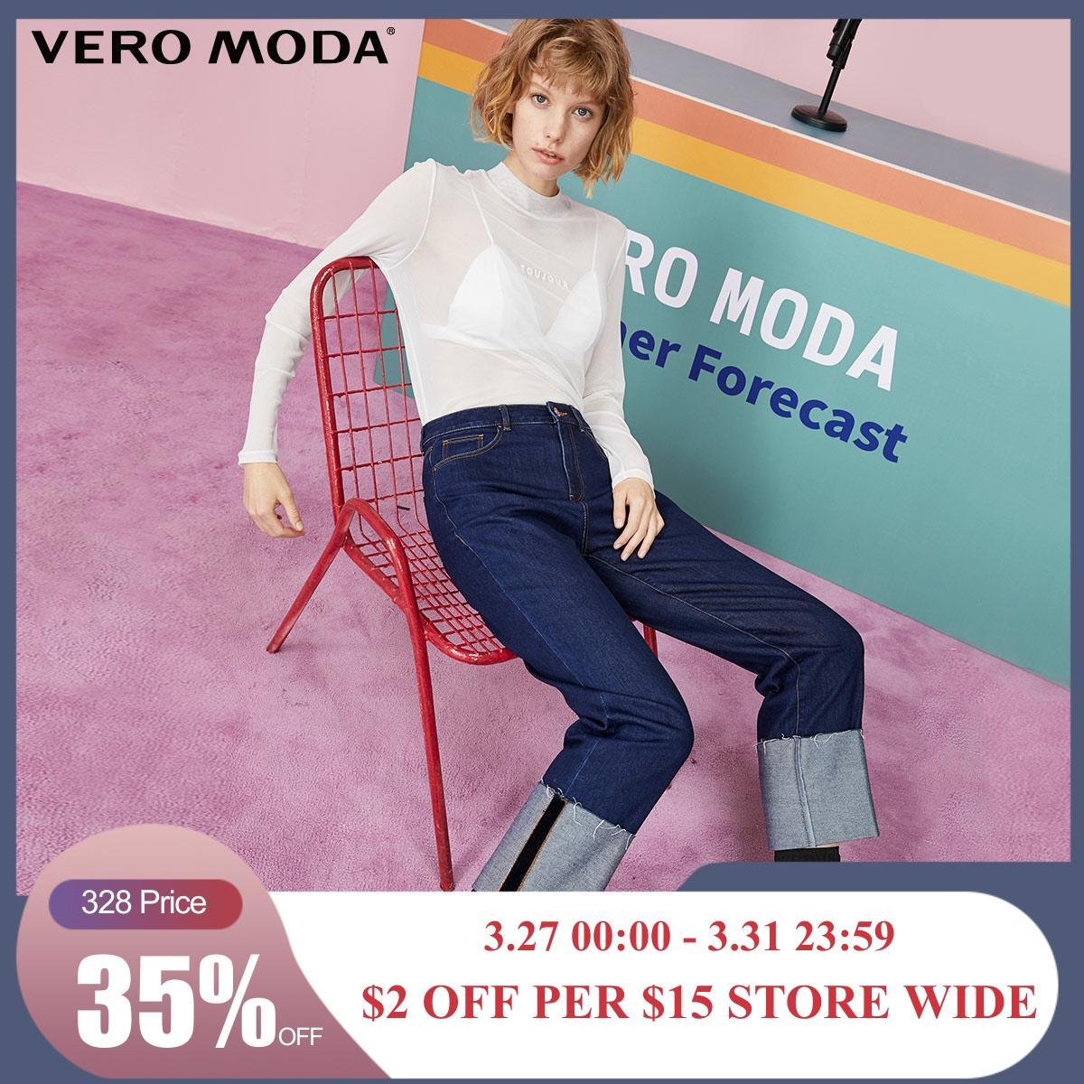 Vero Moda Women's Rolled Cuffs Straight Fit Crop Jeans   319349546