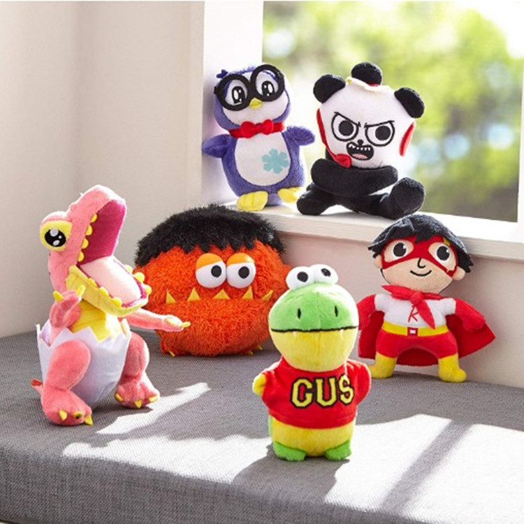 Skyleshine New Ryan Toys Review Plush Toys Ryan's World Moe Dinosaur Panda Penguin Stuffed Doll Cartoon Toys Kids Christmas Gift