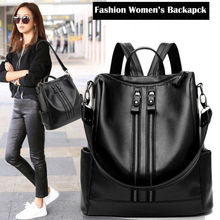 2020 New Fashion Woman Backpack High Quality Youth PU Leather Backpacks for Teenage Girls Female Sch