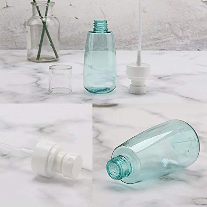10 PCS Portable Refillable Plastic Fine Mist Perfume Spray Bottle Transparent Empty Spray Sprayer Bottle, 100Ml-1