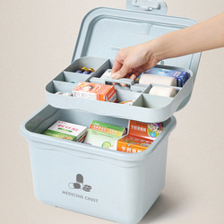 Family First Aid Box Emergency Kits Case Portable Wound Treatment Pills Bandages Storage Box For Travel Home Car