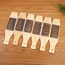 Coupe-légumes multifonctionnel en planche de cuivre pur, raboteuse de radis, râpe en bois à l'ancienne