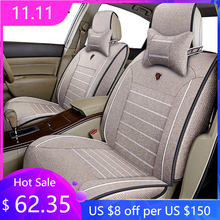 CAR TRAVEL flax car seat cover for skoda octavia 1 2 a5 a7 fabia 2 3 karoq kodiaq octavia rs superb auto accessories car styling