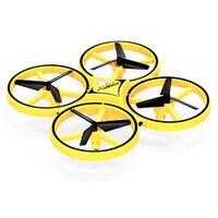 Mini ufo zangão gesto aeronave indução drones inteligente relógio de detecção remoto rc helicóptero super resistência rc quadcopter rc brinquedo