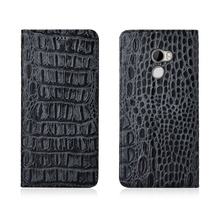 цена на Crocodile Back Pattern Genuine Real Leather Magnetic Flip Phone Bag For HTC One X10/HTC One X9/HTC One A9 Phone Case Coque Funda