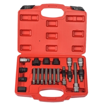 Hot Sale 18Pcs Alternator Repair Tool of Alternator Freewheel Pulley Puller Removal Socket Tool Kit