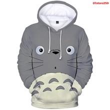 Kawaii bluzy Totoro Anime 3D bluza z kapturem odzież damska Plus rozmiar Streetwear moda męska Streetwear śmieszne bluzy z kapturem Totoro płaszcz topy tanie tanio WGTD WISH CN (pochodzenie) Pełna Na co dzień Stałe REGULAR 966-AmongUs Hoodies Brak STANDARD COTTON Poliester Hooded Hoodie Sweatshirt