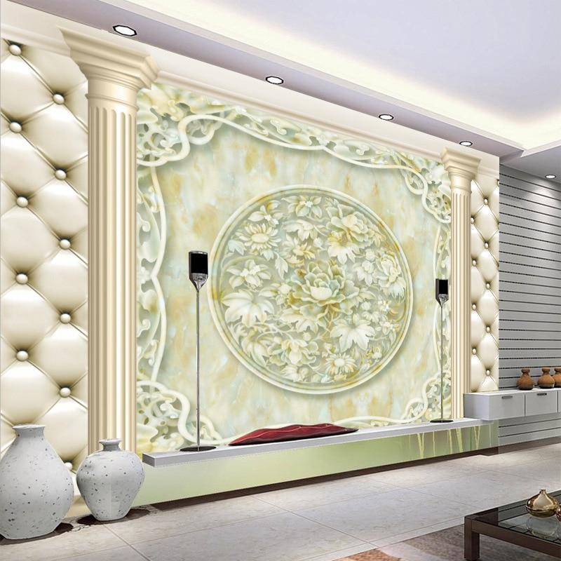 Гостиная телевизор фон стены нетканые обои диван спальня 3D обои фильм и телевидение бесшовные стены ткань Mur