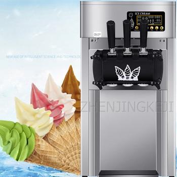 110/220V Commercial Ice Cream Machine Desktop Tricolor Ice Cream Maker Fruit Dessert Machine Sweet Cone Freezing Equipment 1200W free ship by sea fast freezing roll thailand fry ice cream machine double pan
