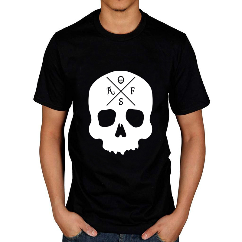 <font><b>Af</b></font> Skull WhiteMen T-Shirt Gothic Tee Hipsters Funny Women <font><b>Tshirt</b></font> Tumblr Graphic Tee Summer Shor Sleeve Casual Shirt image