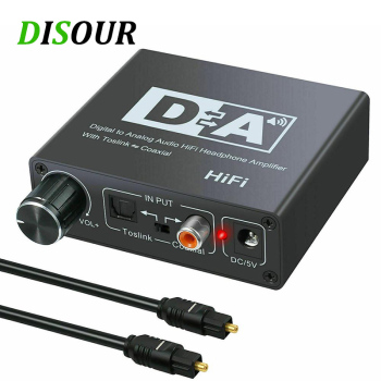 HIFI DAC Amp Digital To Analog Audio Converter Decoder 3.5mm AUX RCA Amplifier Adapter Toslink Optical Coaxial Output DAC 24bit unnlink new digital to analog audio adapter 192khz dac spdif optical toslink coaxial to r l rca 3 5 jack for ps4 led tv mi box