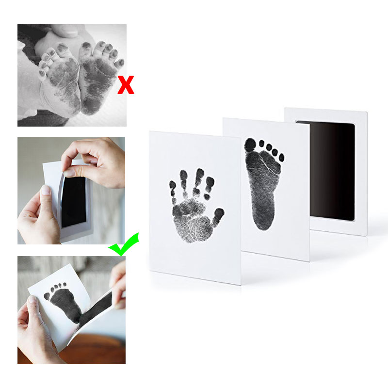 Baby Handprint Footprint Inkt Large Non-Toxic Newborn Imprint Hand Inkpad Watermark Infant Souvenirs Clay Toys Footprint Ink Pad