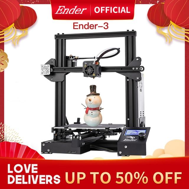 Ender 3 3D Printer Kit Large Print Size Ender3/Ender 3X Printers Continuation Print Power Creality 3D