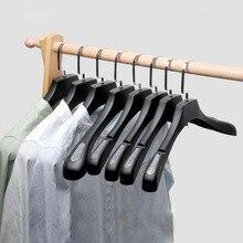 Sainwin 10 adet/grup elbise askıları giyim mağazaları/kalınlaşmış plastik kum kaymaz izsiz geniş omuz askıları