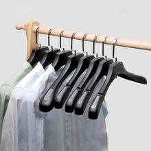 Sainwin 10 teile/los Kleidung Kleiderbügel In Kleidung Geschäfte/Verdickte Kunststoff Sand Slip proof Weglosen Breiten Schulter Kleiderbügel