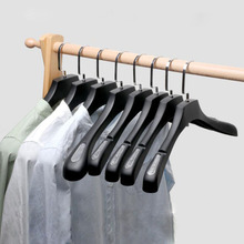 Sainwin 10pcs/lot Clothes Hangers In Clothing Stores/Thickened Plastic Sand Slip proof Trackless Wide Shoulder Hangers