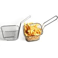 Mini friteuses françaises panier filet maille frites puce outil de cuisine acier inoxydable friteuse maison Mini frites paniers crépine 2