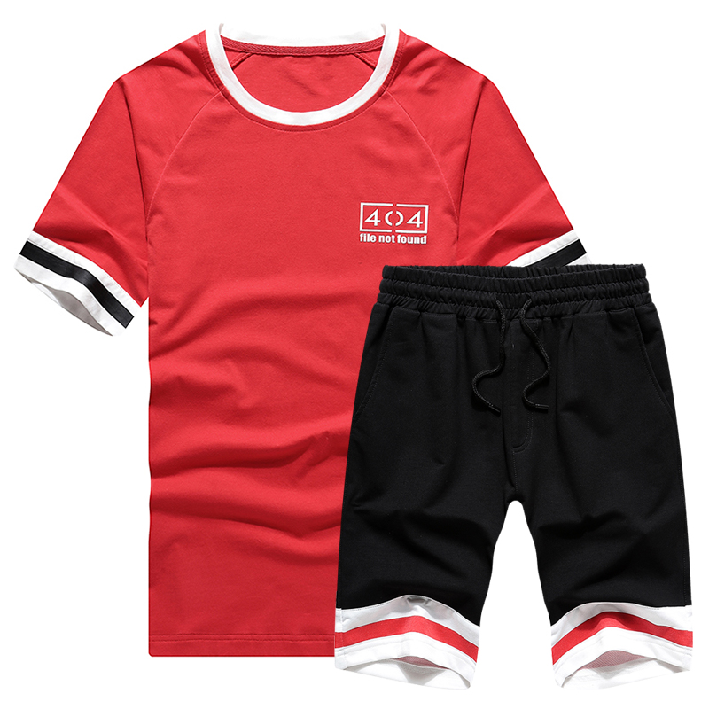 US/Euro New Style Mens Sportswear T-shirts Suits Mens Casual Shirts Shorts Fitness Jogging Suits Sportsman Wear Large Size S-2XL