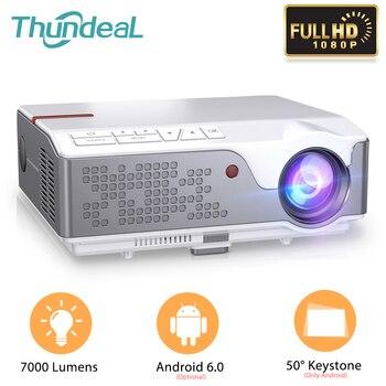 ThundeaL-Proyector LED TD96 TD96W, Full HD, 1920x1080P, 7000 lúmenes, cine en casa, Android, WiFi, HD