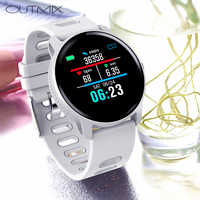 Reloj inteligente deportivo S08 IP68 para hombre y mujer, dispositivo resistente al agua, con control del ritmo cardíaco y Contador de pasos