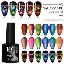 9D Chameleon Holographic Cat Eye Gel Nail Polish Soak Off Magnetic Gel Polish Nail Art Long Lasting Base Top Gel Nail Varnish недорого