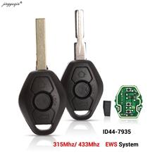 Jingyuqin EWS system kluczyk samochodowy z pilotem dla BMW E38 E39 E46 X3 X5 Z3 Z4 1 3 5 7 serii 315 433MHz ID44 układu dostęp bezkluczykowy nadajnik tanie tanio Chip ID 44 Key Remote Control ABS + Metal + Circuit board China For BMW