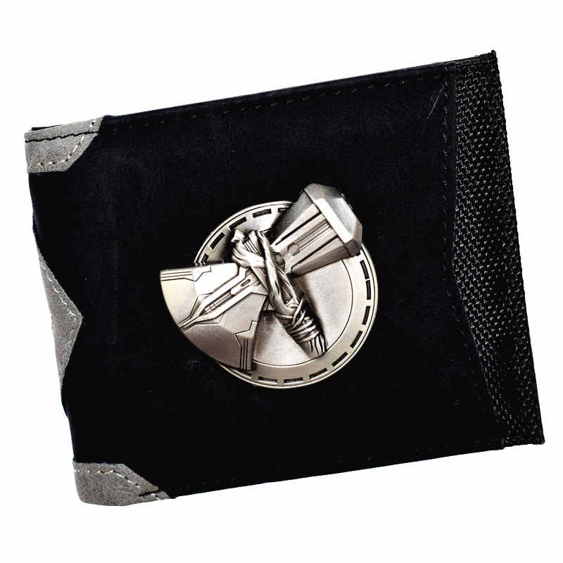 FVIP New Design Marvel Thor Axe Hammer Wallet Men's Short Purse with Coin Pocket