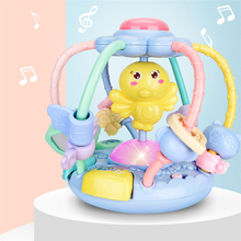цены на Newborn Baby Hand Grabed Rattle With Light And Music Baby Early Education Puzzle Hand Catch Spin Ball Toy For Baby 3-12 Months  в интернет-магазинах