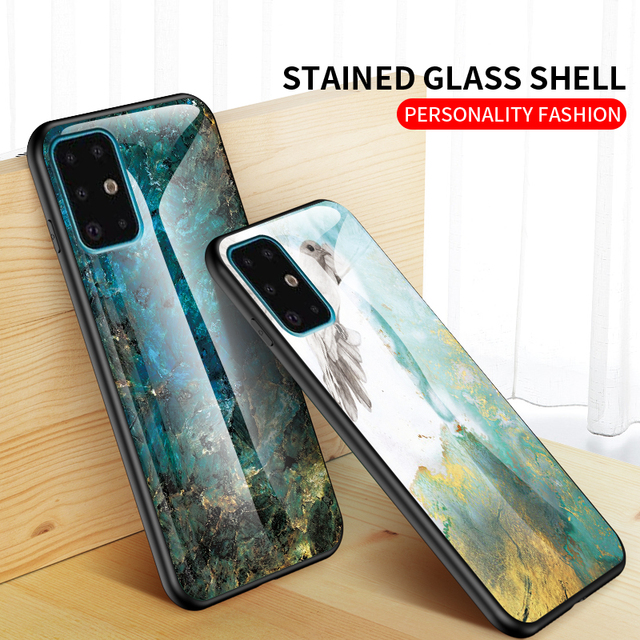 Marble Tempered Glass Case for Samsung Galaxy S11 Plus S10 S9 Note 10 A51 A71 A50S A70 A20 A10 M30S